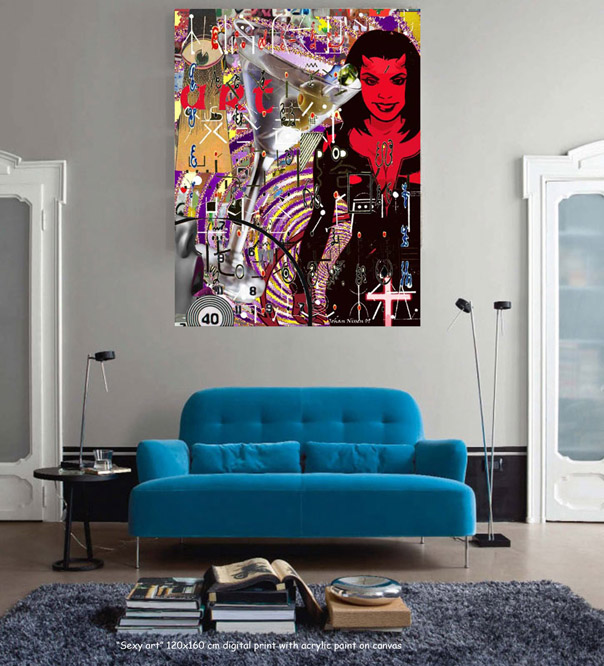 Sexy art in living room