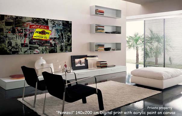 Penzoil in living room